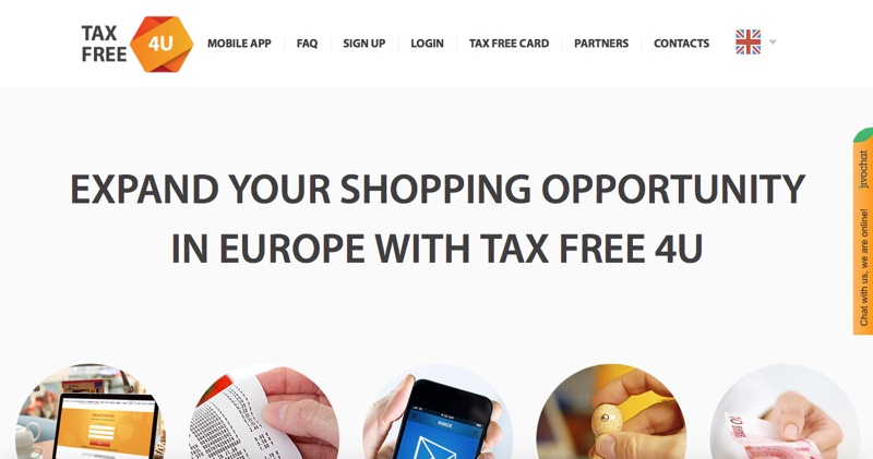 TaxFree4U_homepage_Jan2016