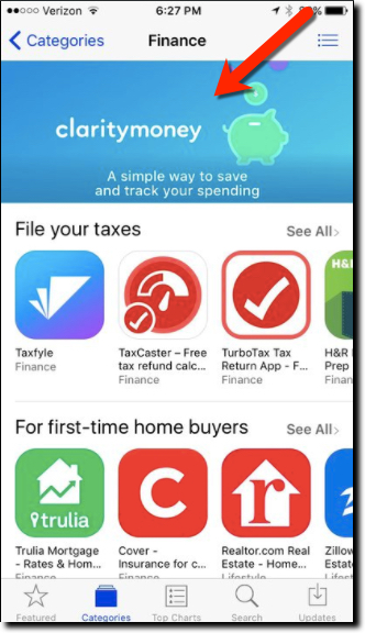 clarity money in ios app store