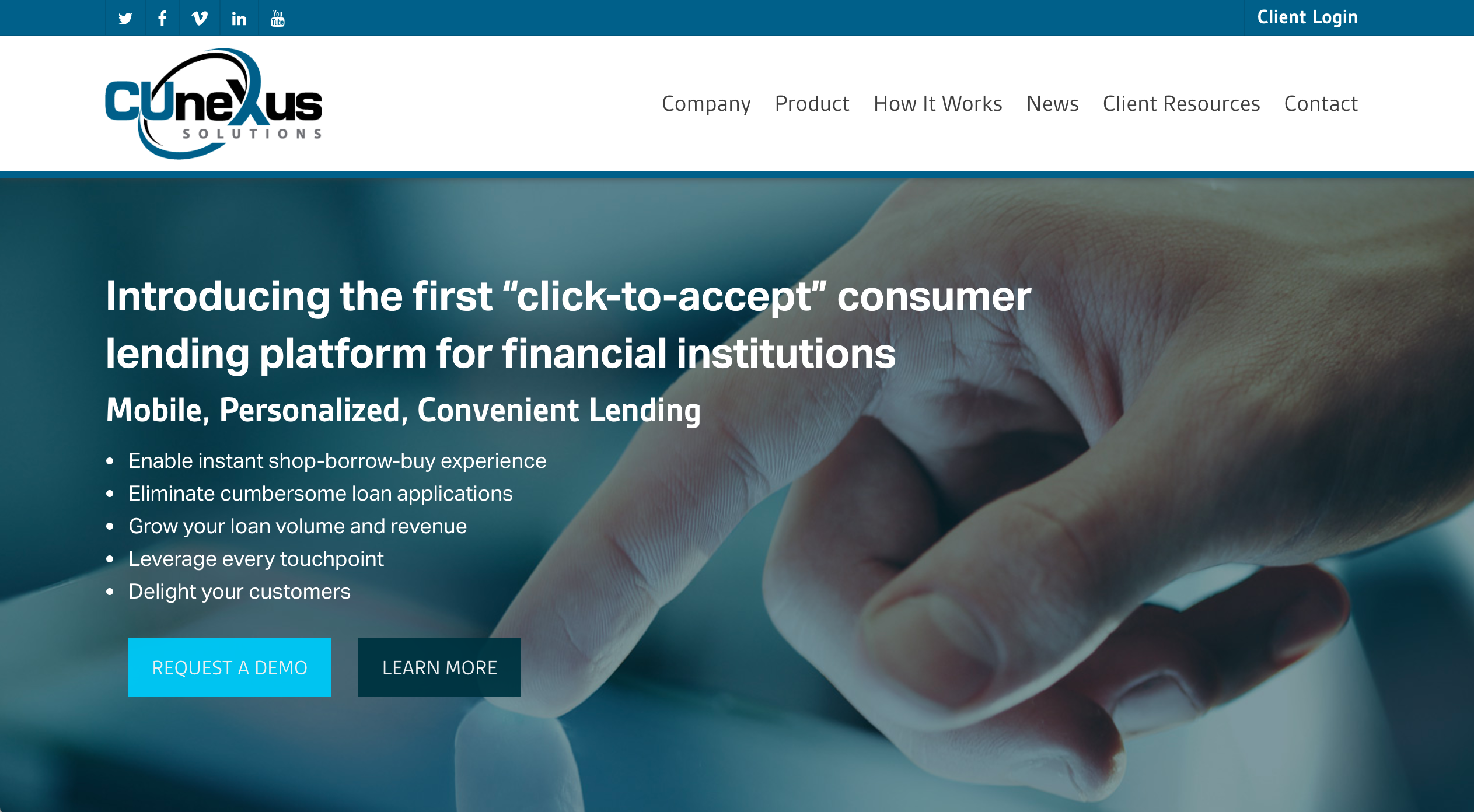 One Click Loan >> Cunexus Cplxpress To Power One Click Loans For Meridianlink