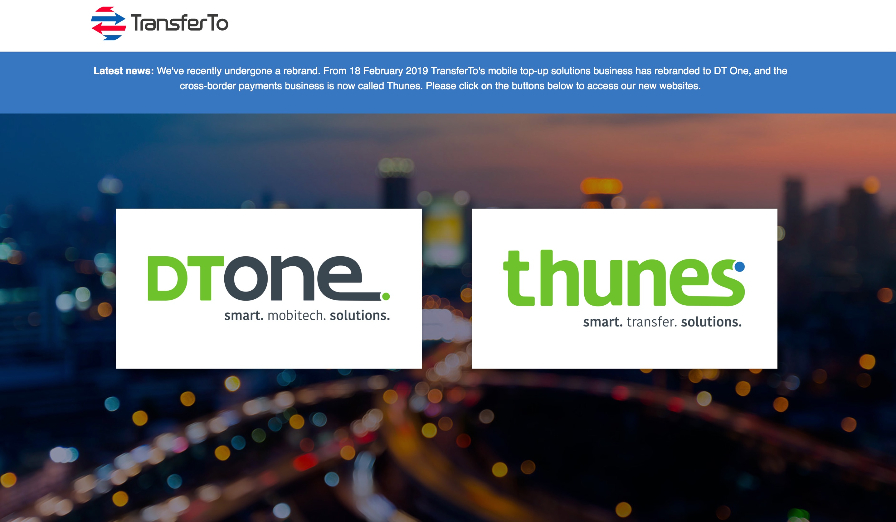 TransferTo Rebrands as DT One and Thunes