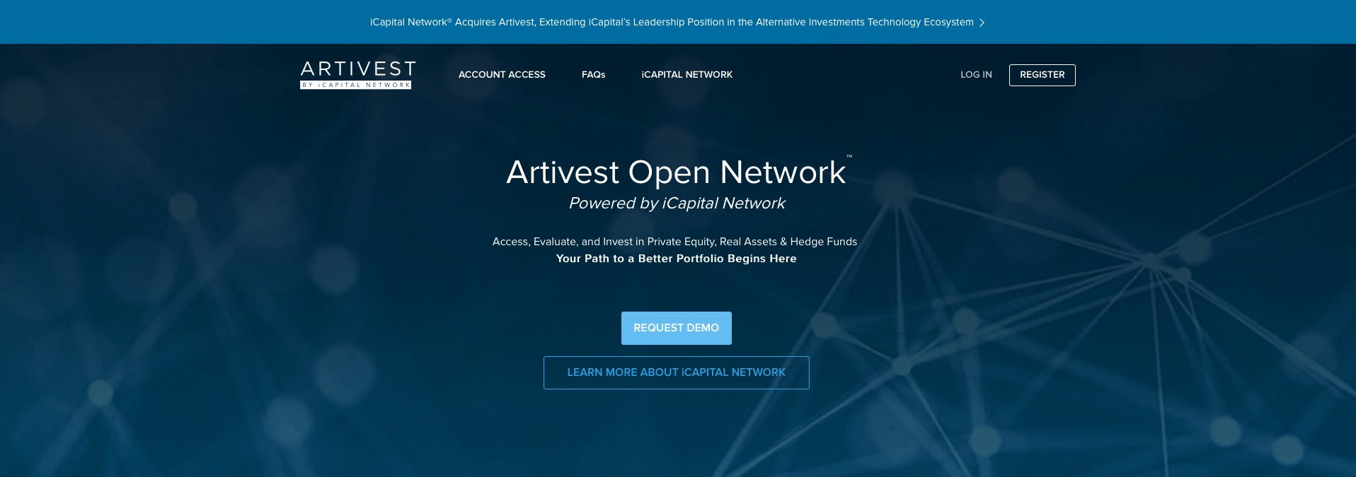 iCapital Closes Acquisition of Alternative Investment Platform Artivest